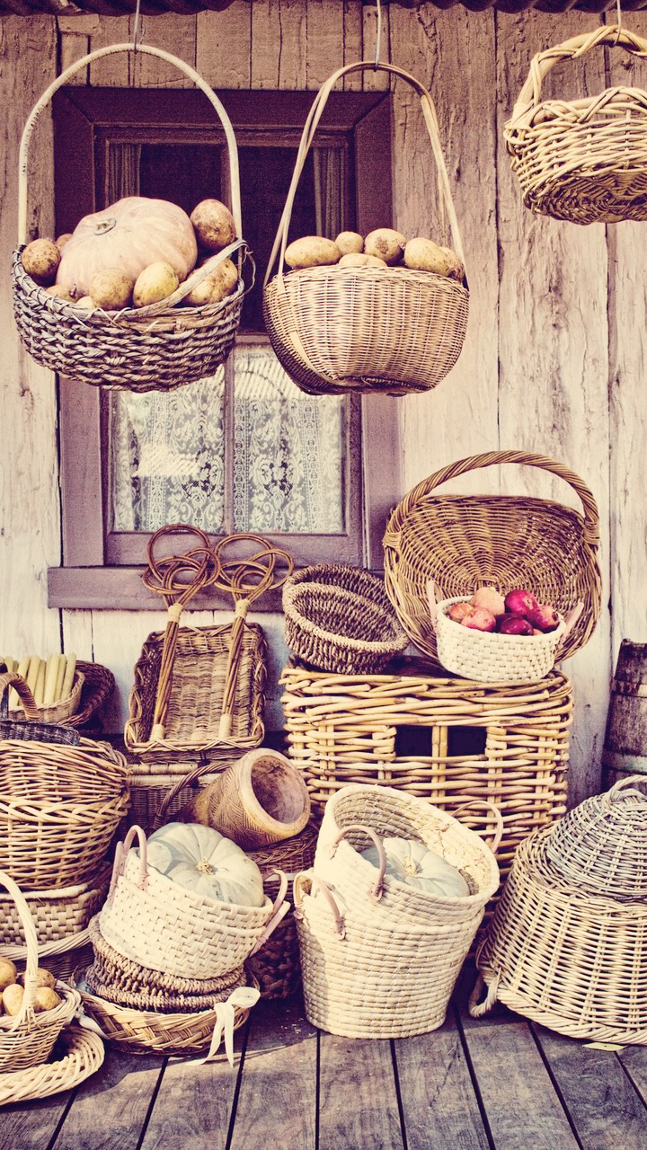 Vegetables Basket Wallpaper