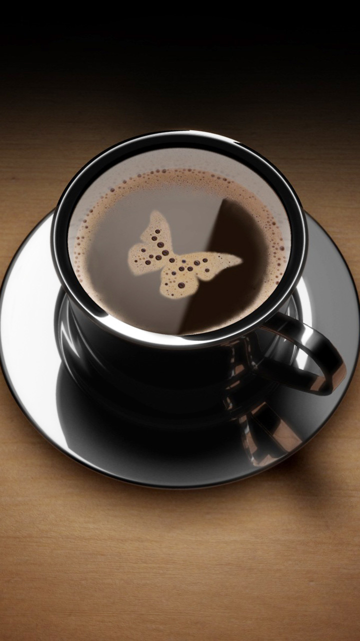 Butterfly In Black Coffee