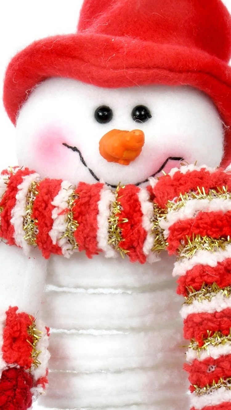 Merry christmas snowman mobilewallpapers