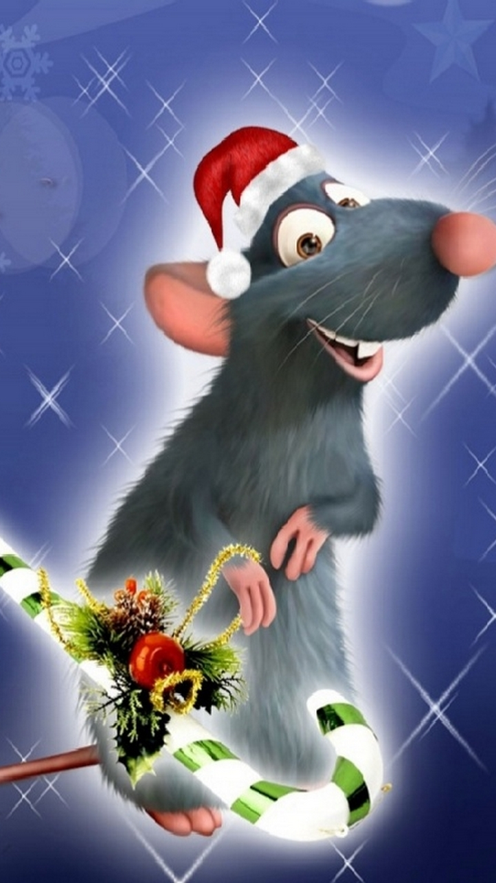 Christmas Funny Mouse Wallpaper