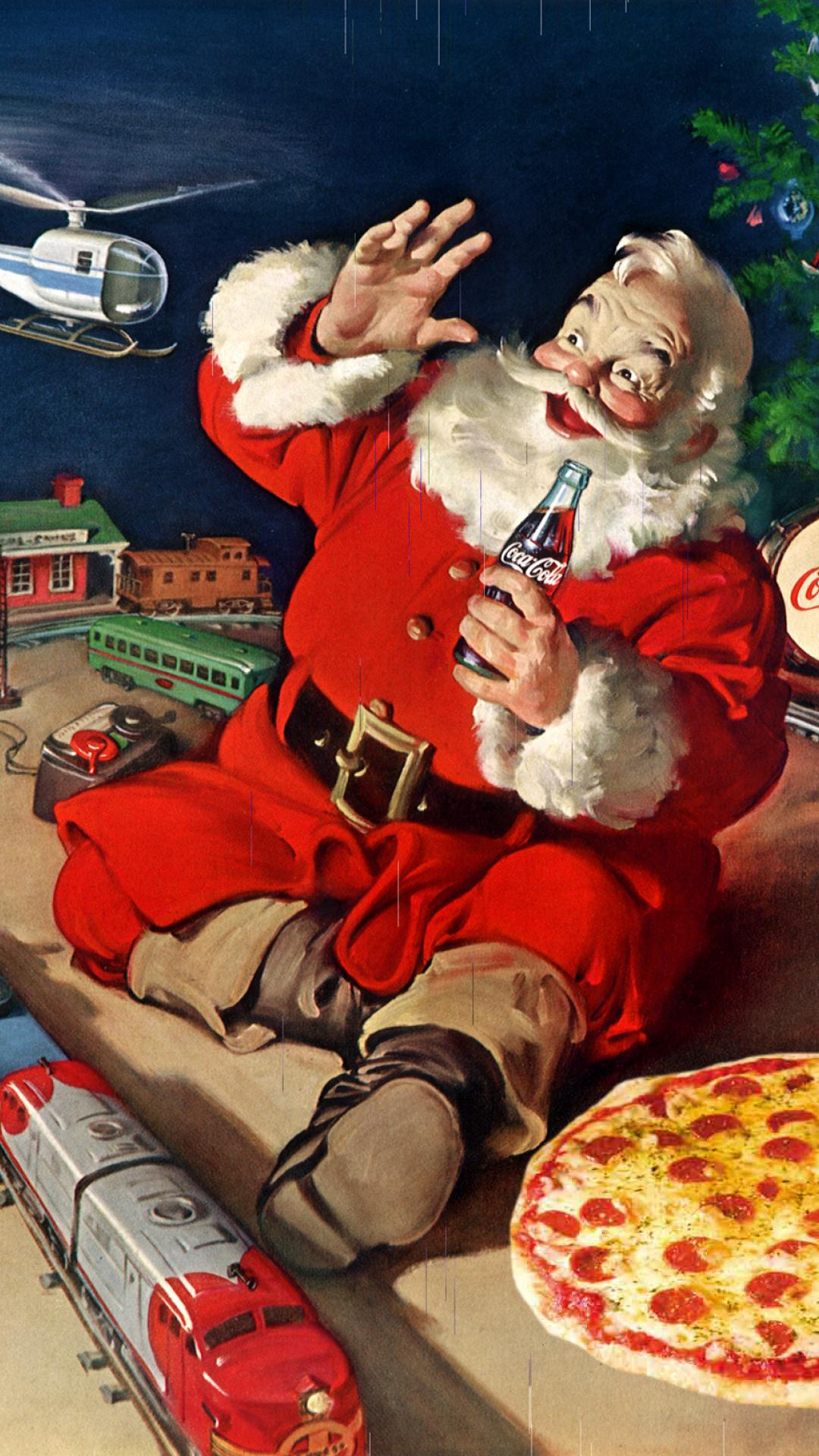 Christmas Party Santa Claus Painting