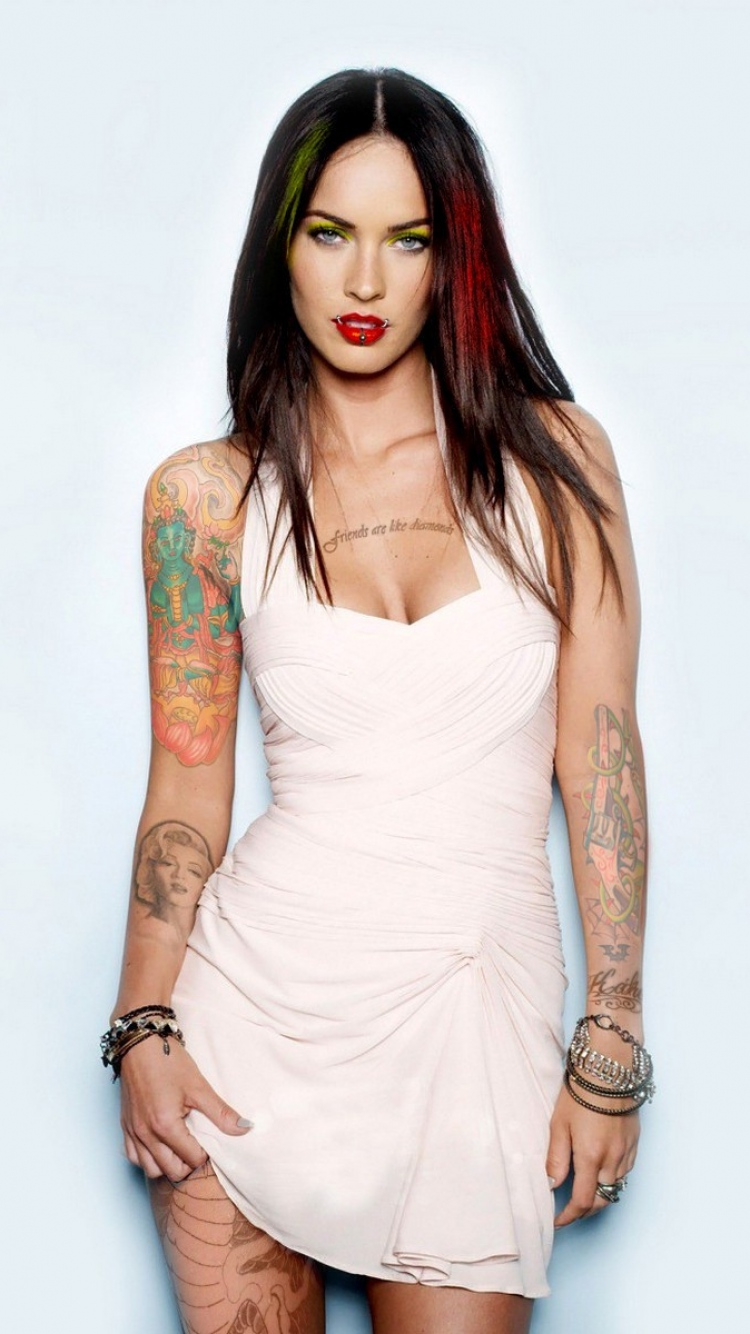 Megan Fox Tattoo Wallpaper Mobile Wallpaper Phone Background