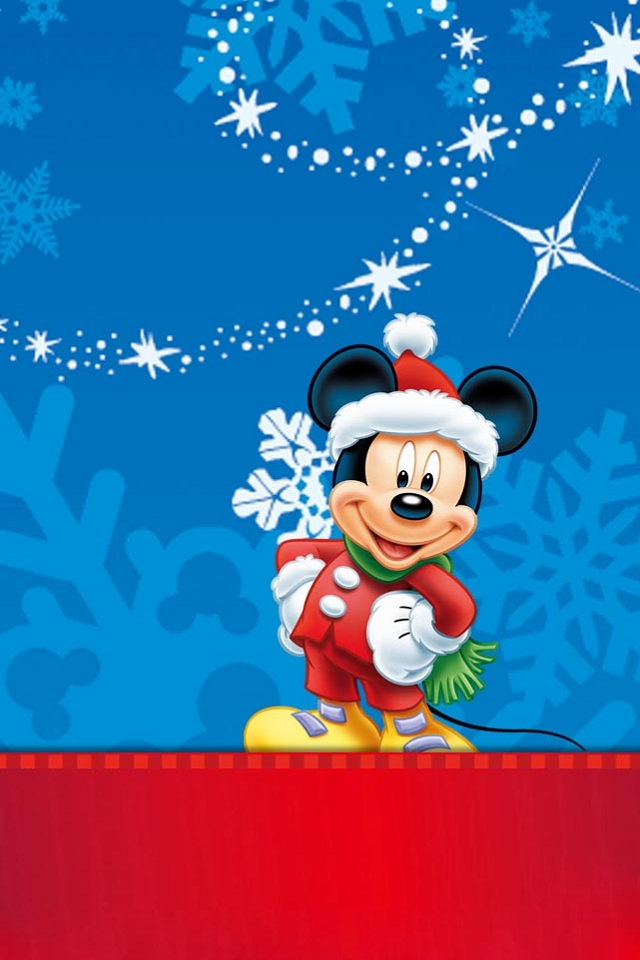 Mickey Mouse Picture For Christmas Mobile Wallpaper Phone Background