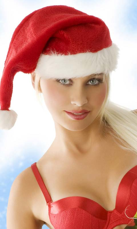 Sexy Eyes Christmas Girl