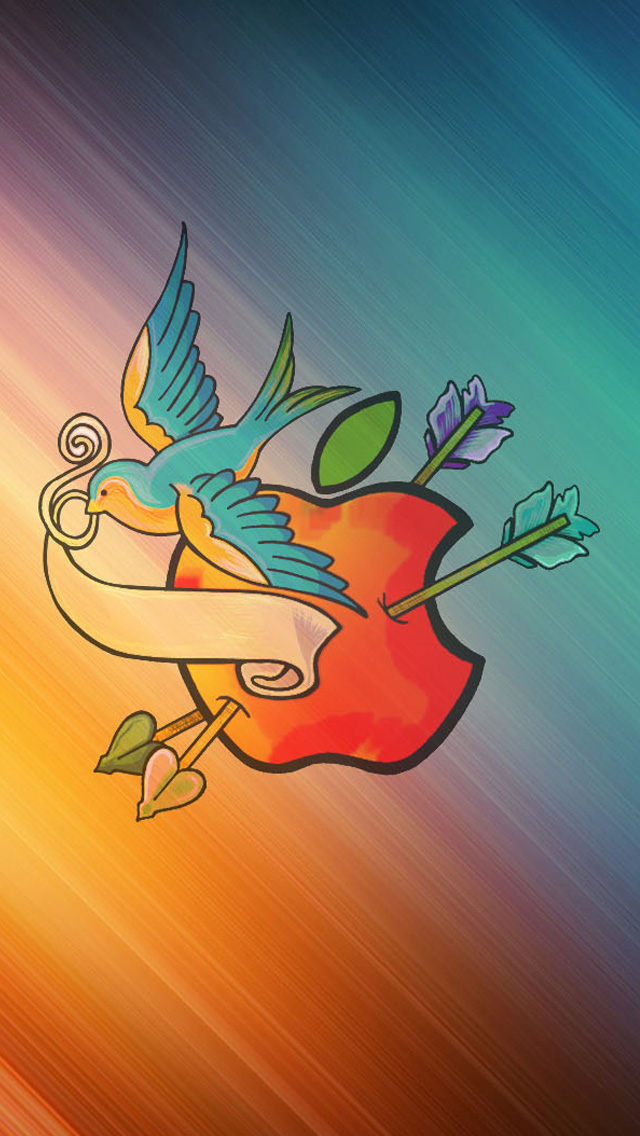 Love Bird Apple HD Wallpaper