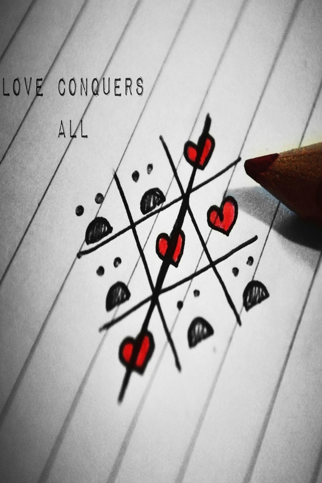 Love Conquers All Valentine Wallpaper