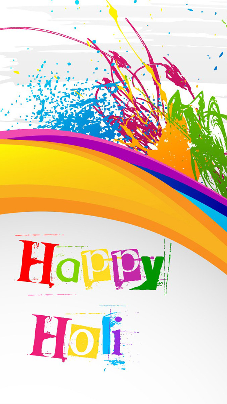abstract colorful happy holi | mobile wallpaper | phone background