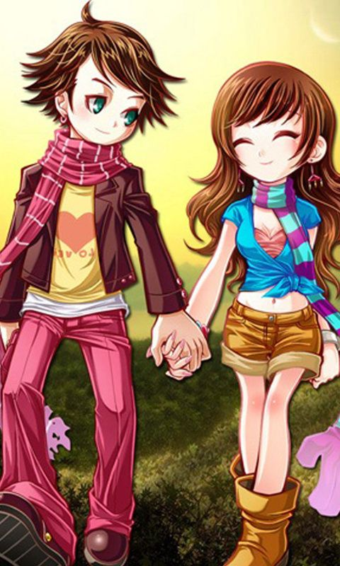 Animeted Cute Couple