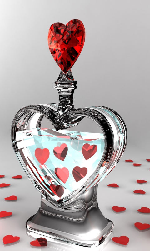 Romantic Love Wallpapers For Mobile Phones : Valentine Love Bottle