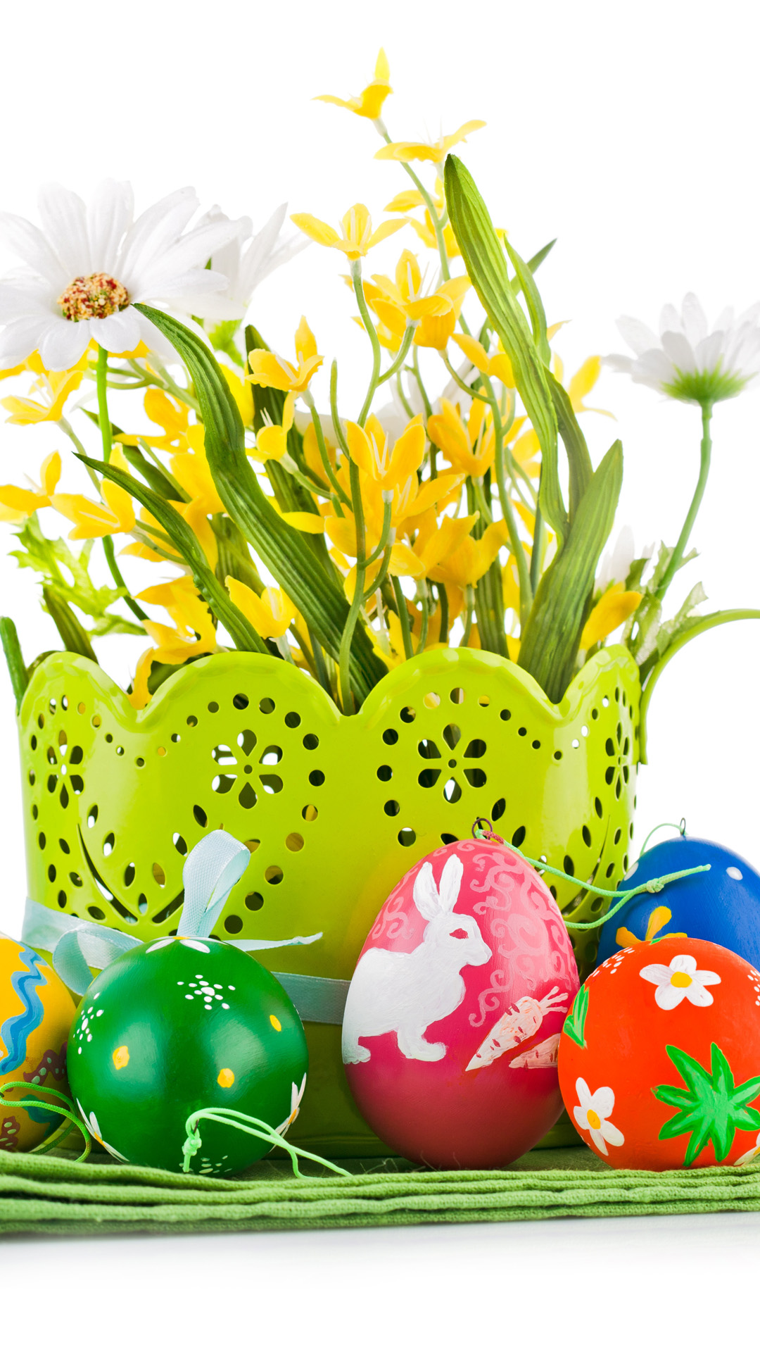 Easter Eggs Flower Basket