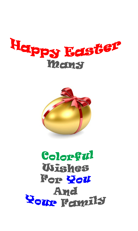 Golden Egg Easter Wishes