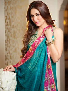 Kareena Aqua Color Saree