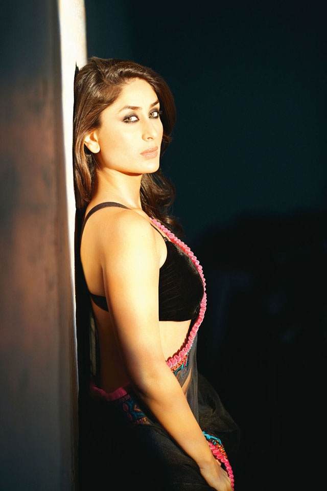 Kareena Black Hot Saree