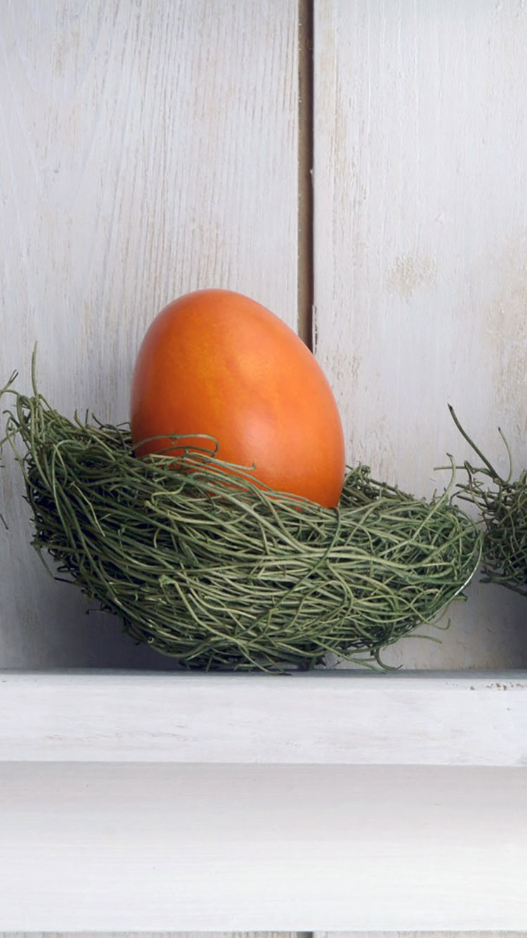 Nested Orange Easter Egg
