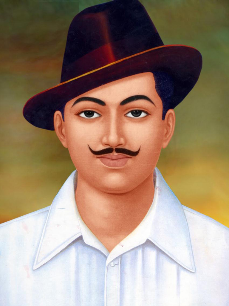 Shahid Bhagat Singh Poster Mobile Wallpaper Phone Background