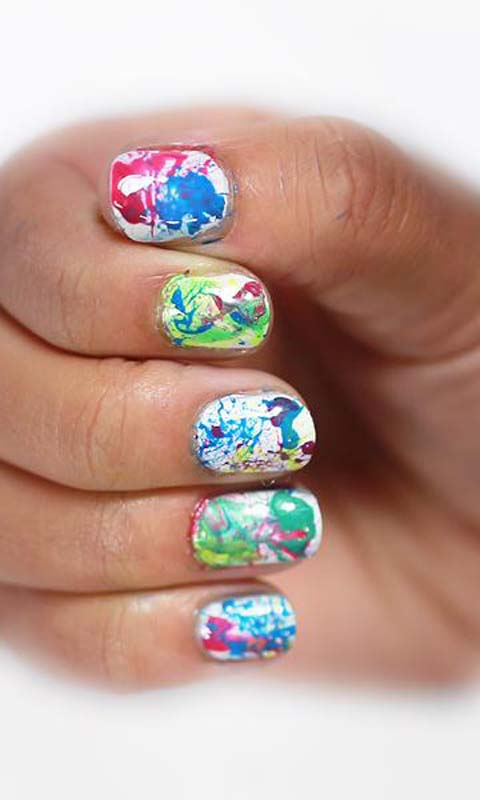 Splatter Nail Painting