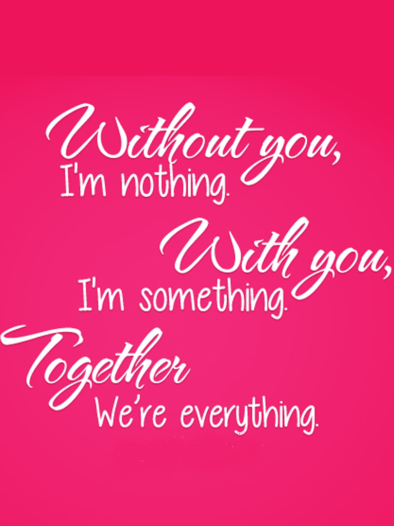 Mobile Quotes Wallpaper On Love : Without You Love Quotes