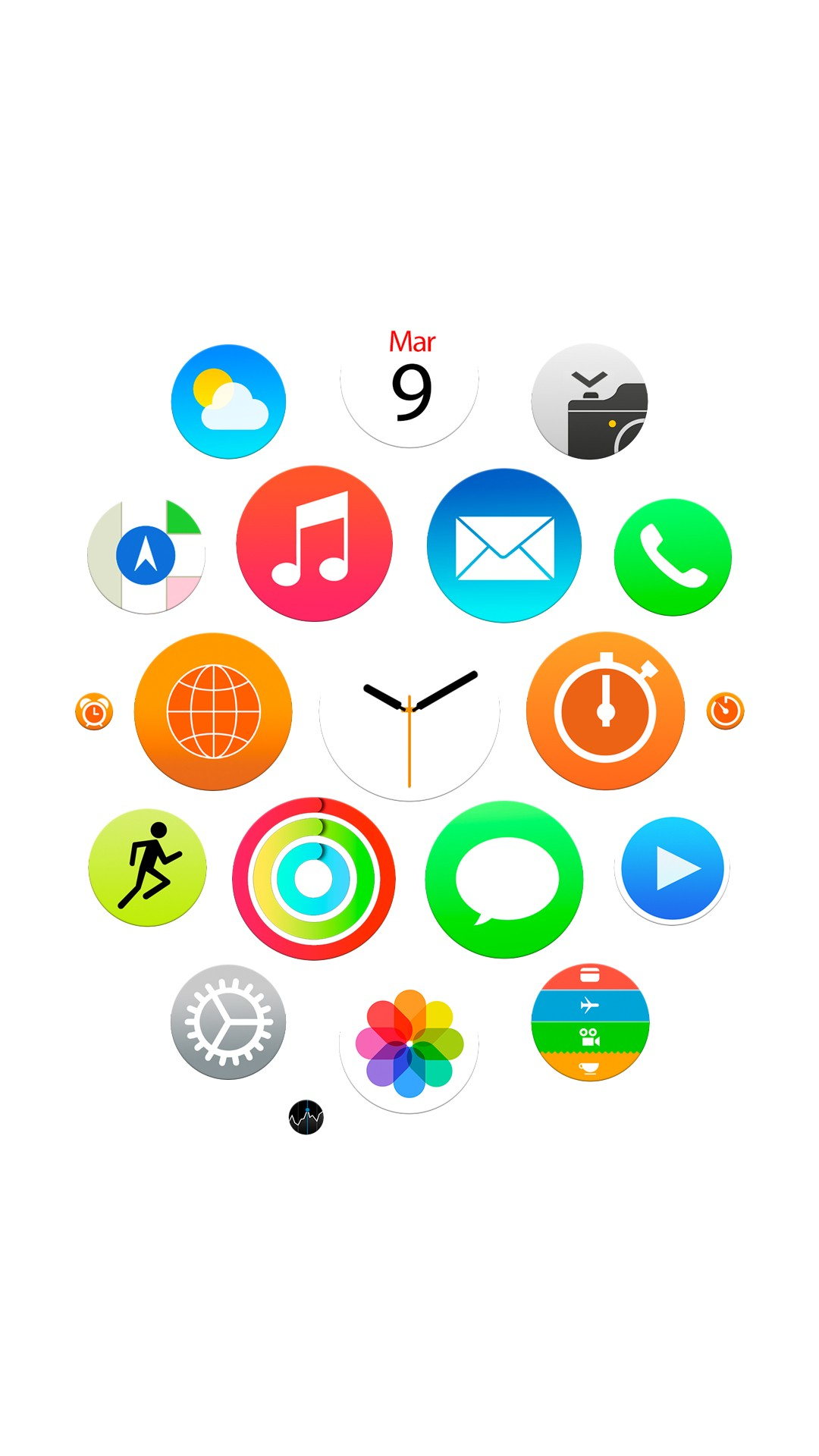 Apple iWatch Homescreen