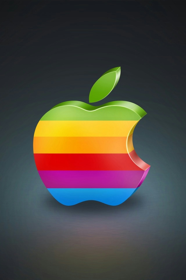 Colorful Apple Logo 3D