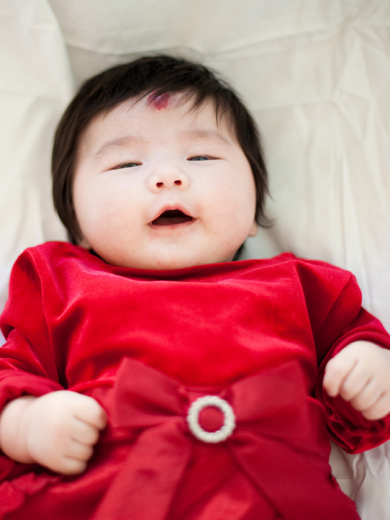 Infant Baby Girl in Red