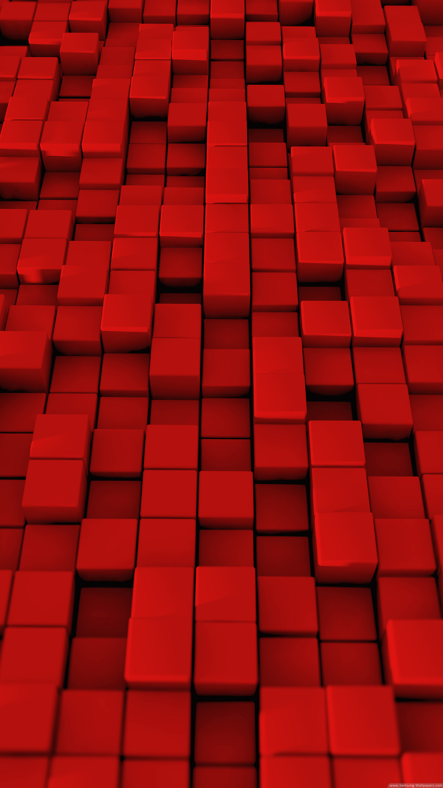 Red Grid Lock Screen