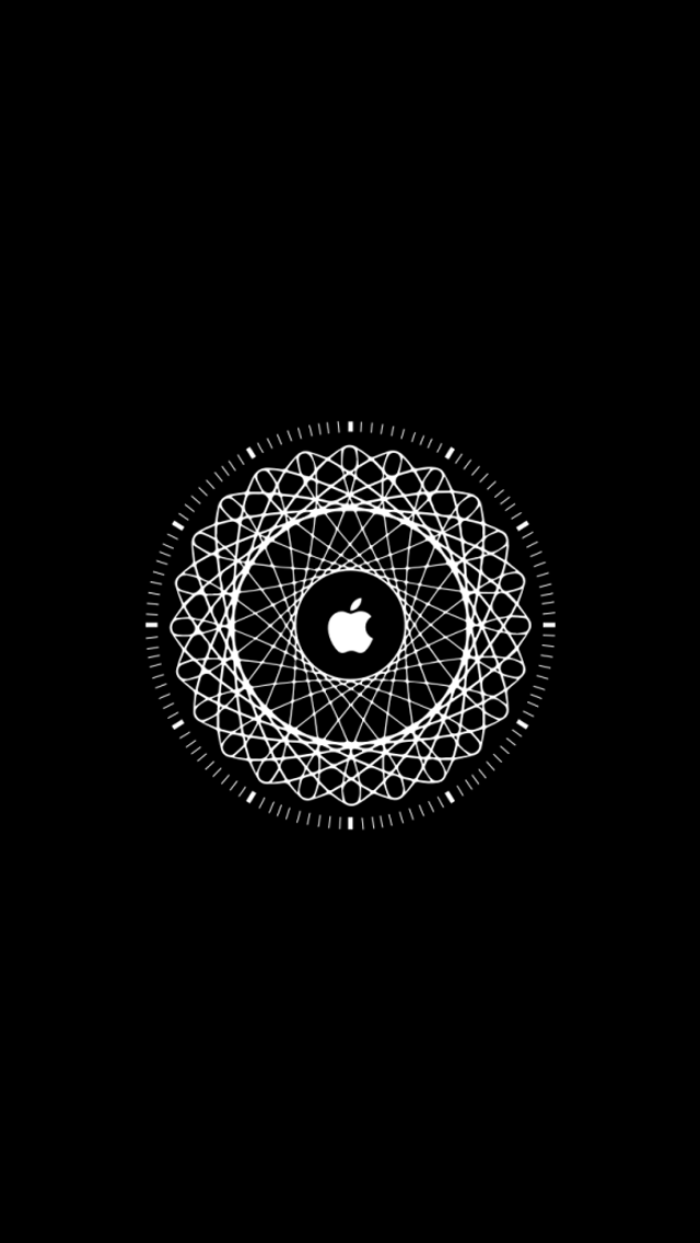 White Apple Logo Background