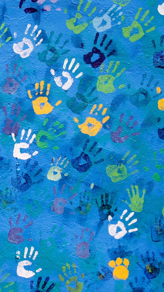 Colorful Handprint Art