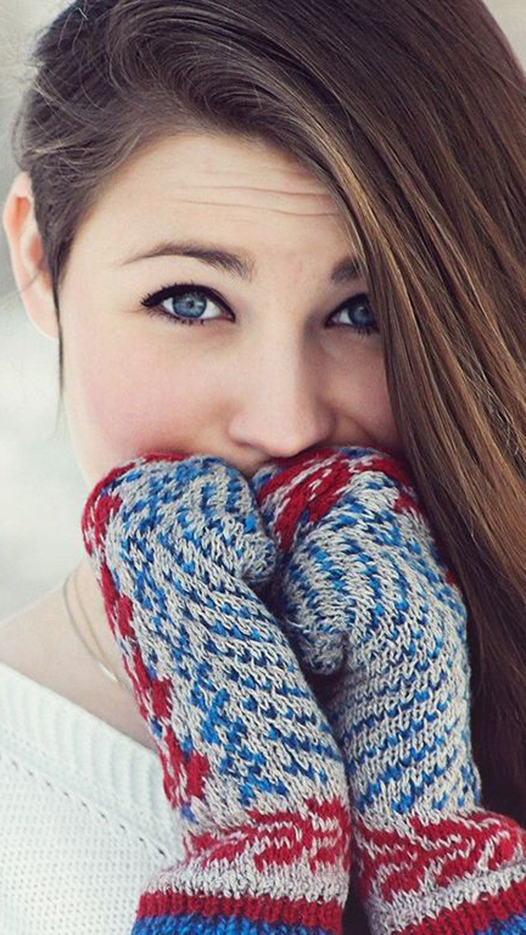 Gorgeous Girl with Gloves
