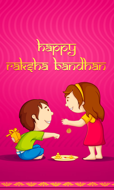 Happy Raksha Bandhan Cute Wallpaper