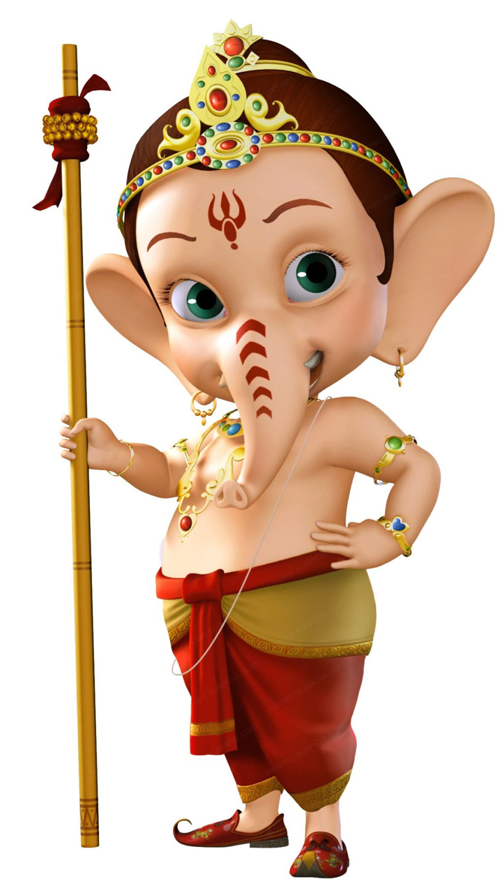 Bal Ganesha HD Cartoon