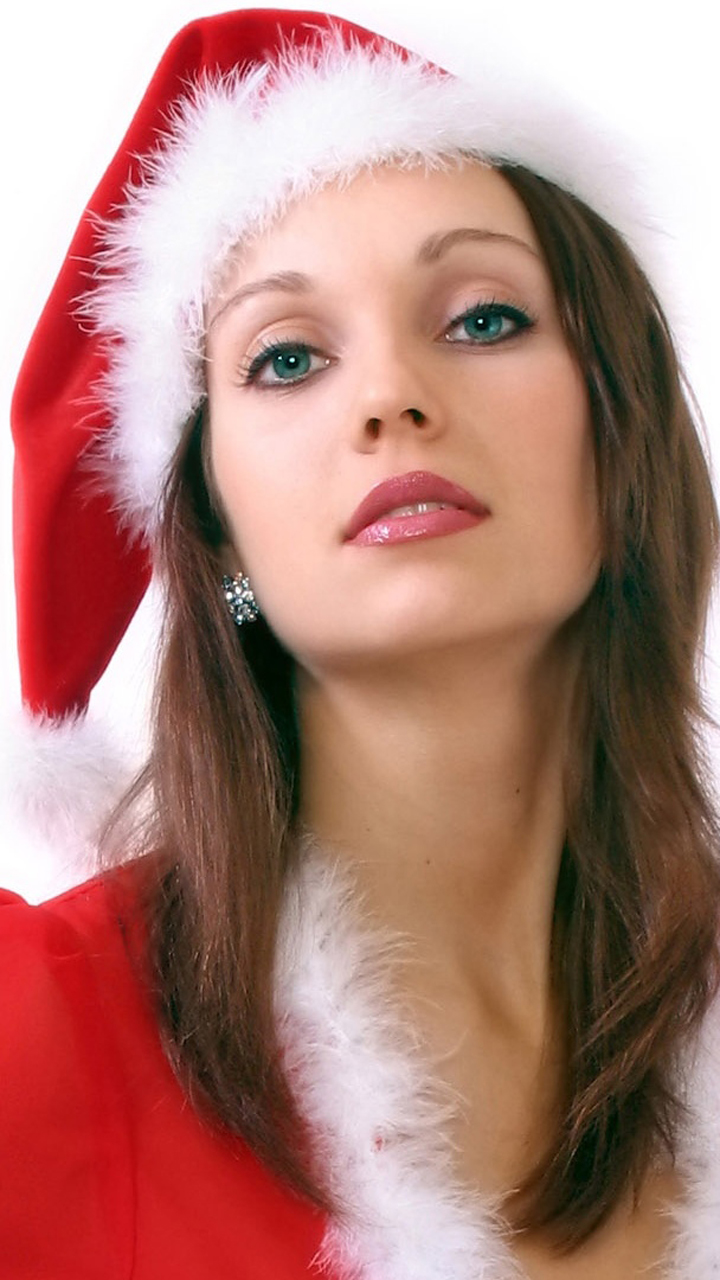 Model In Chrismas Dress