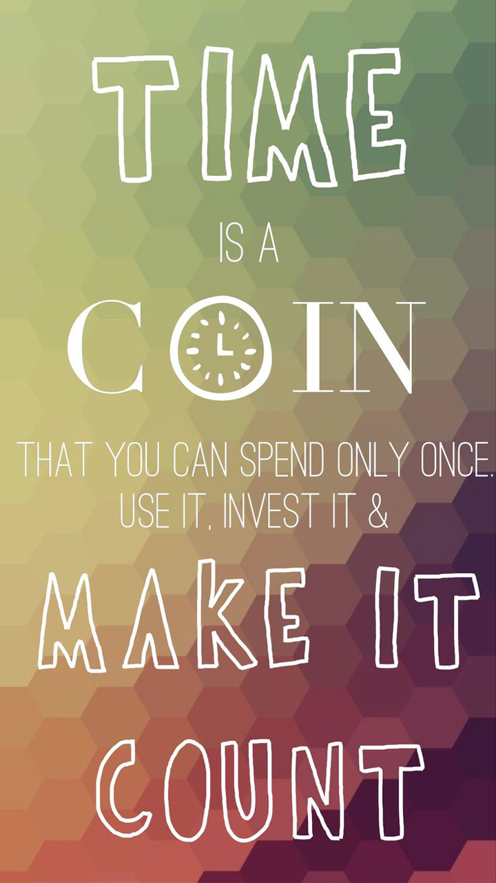 Time is coin quote for Home wallpaper quotes