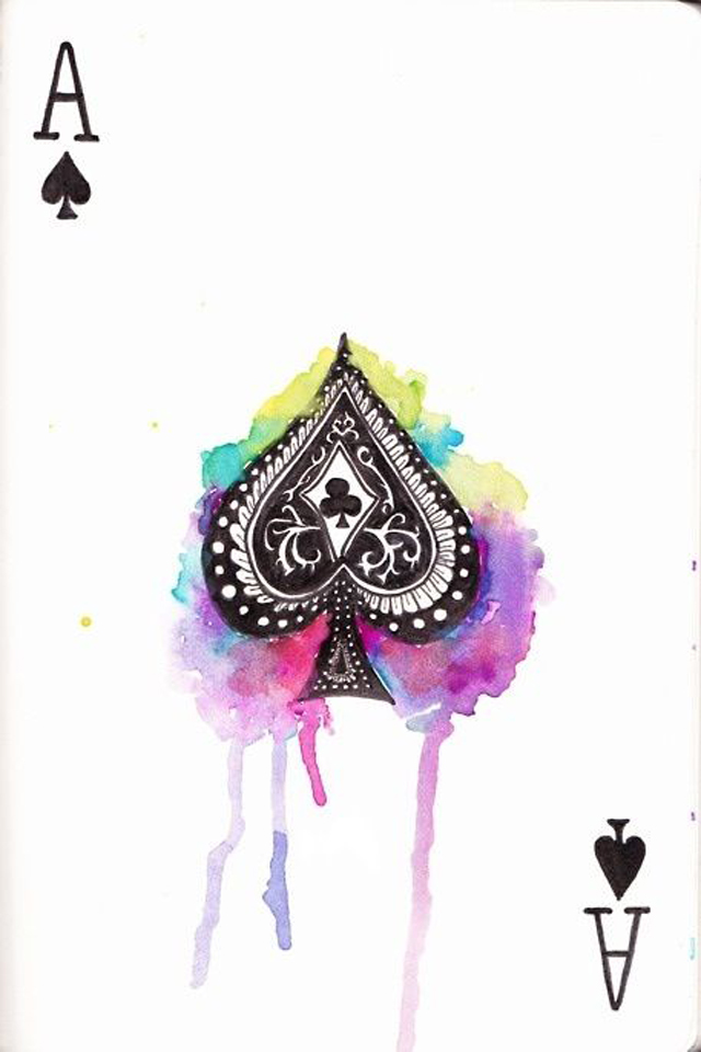Ace of spades in cards for Wallpaper para celular
