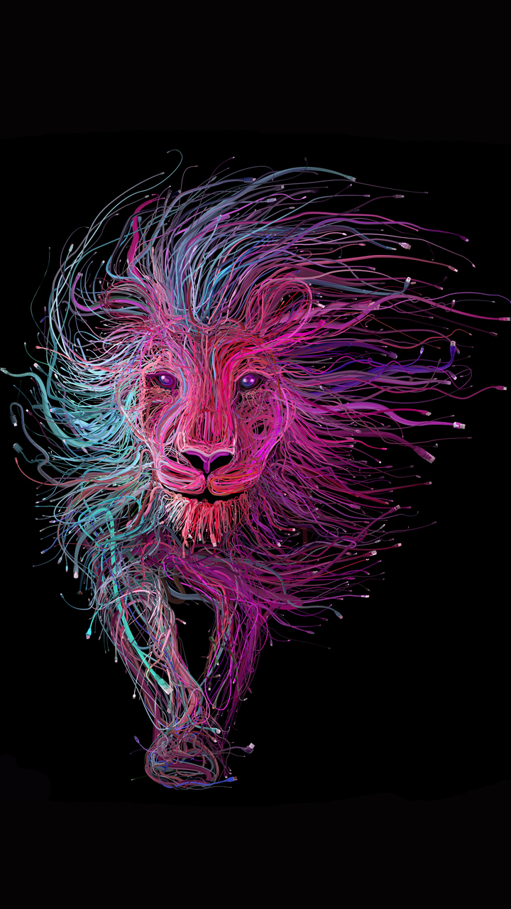 Creative lion picture - Phone animal wallpapers ...