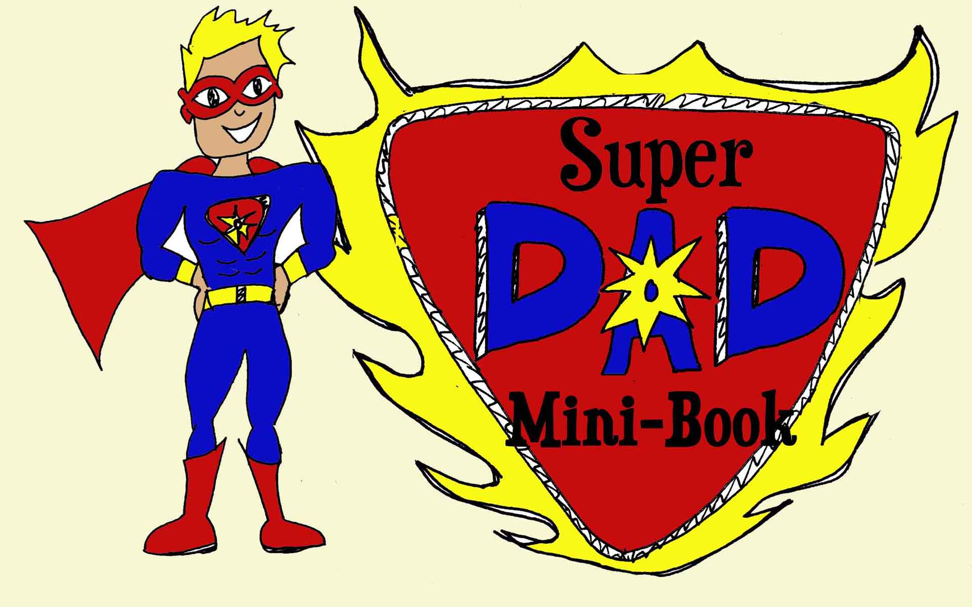 Personalised Super Dad Print By Just For You