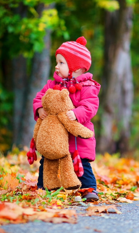 Cute Little Boy & Teddy