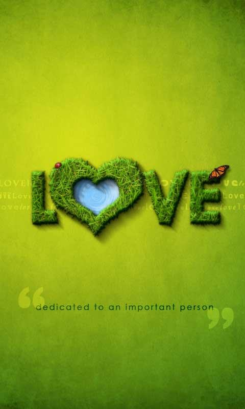 Green Background Love Quote