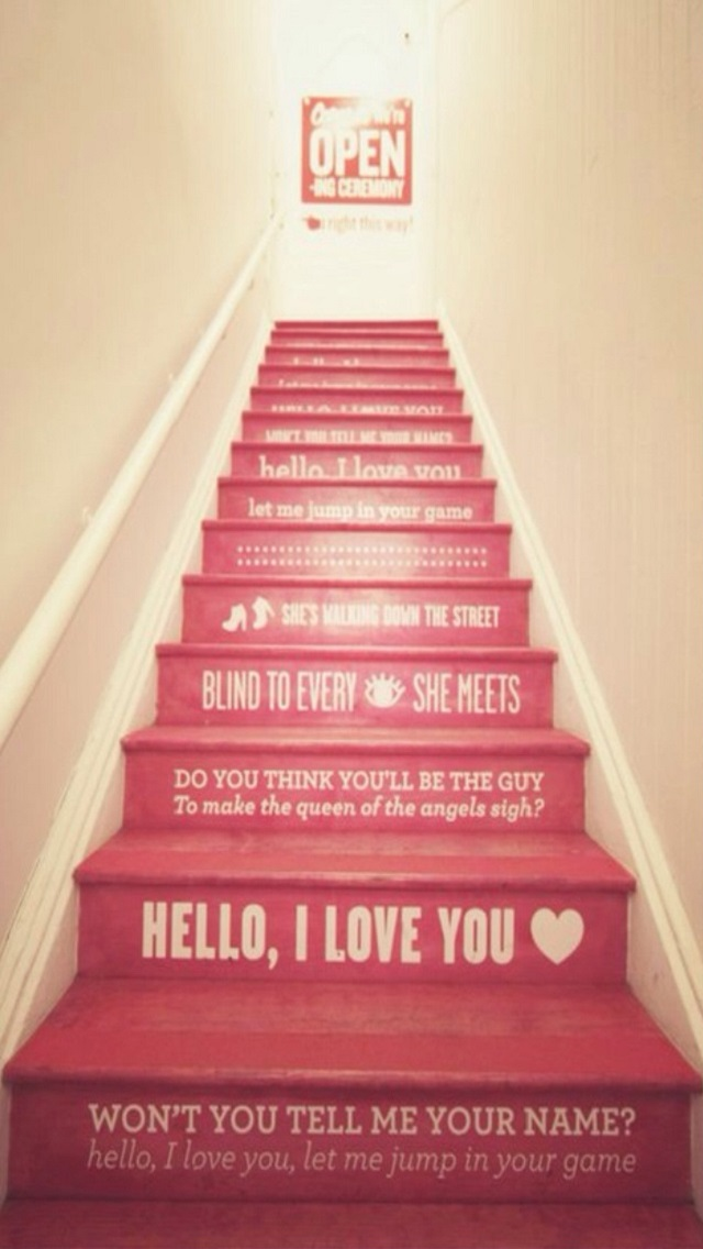 Hello Love You Red Stairs