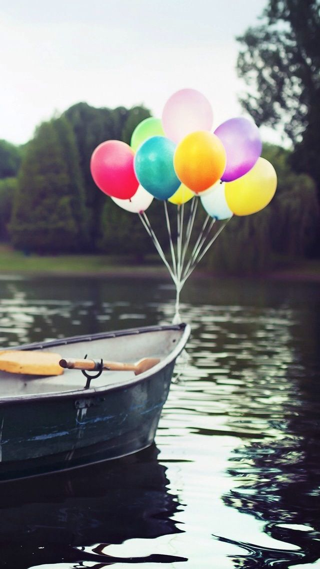 Balloons On Boat