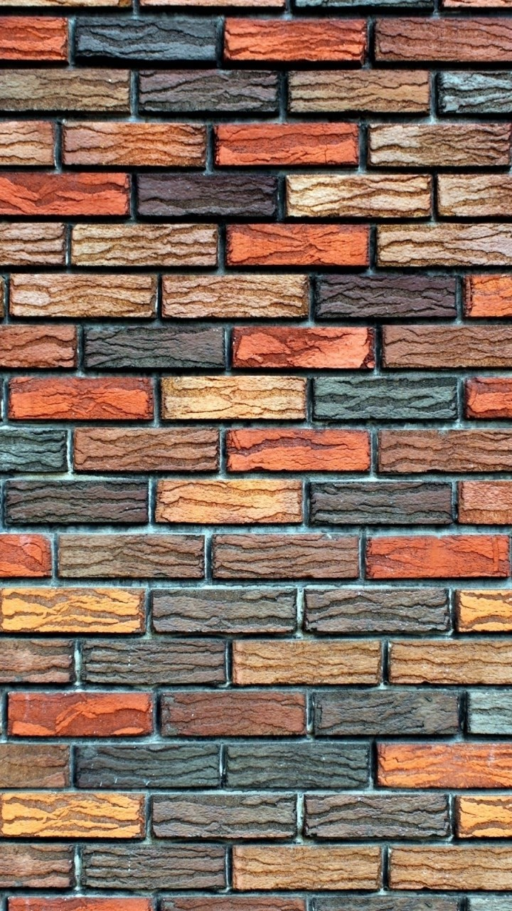 Colored Brick Wallpaper