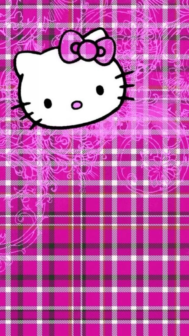 Cute Cat Mouth On Pink Pattern