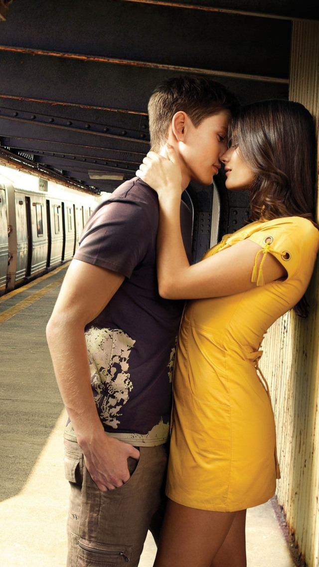 Loving Couple at Station