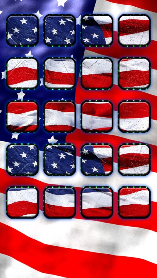 USA 4th July Background Icon