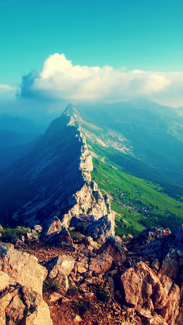 Beautiful Mountain Top View