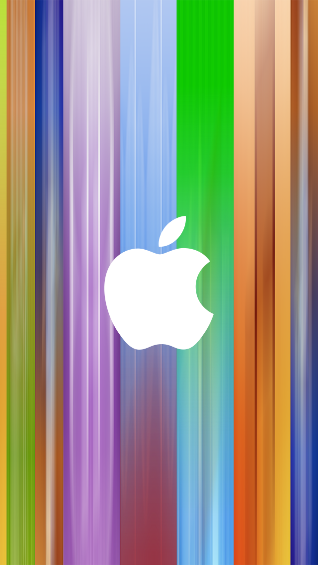 Color Backgroud Apple Logo