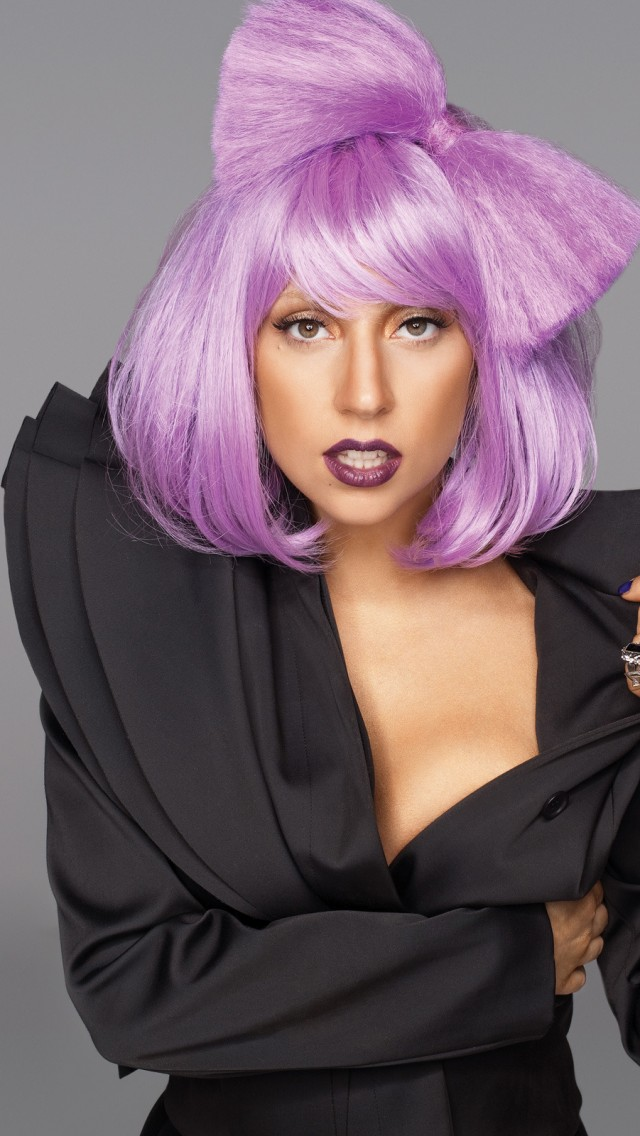 Lady Gaga Purple Hair