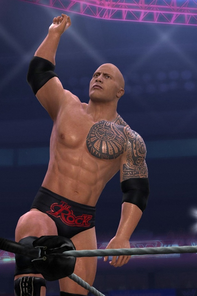 The Rock in WWF Ring