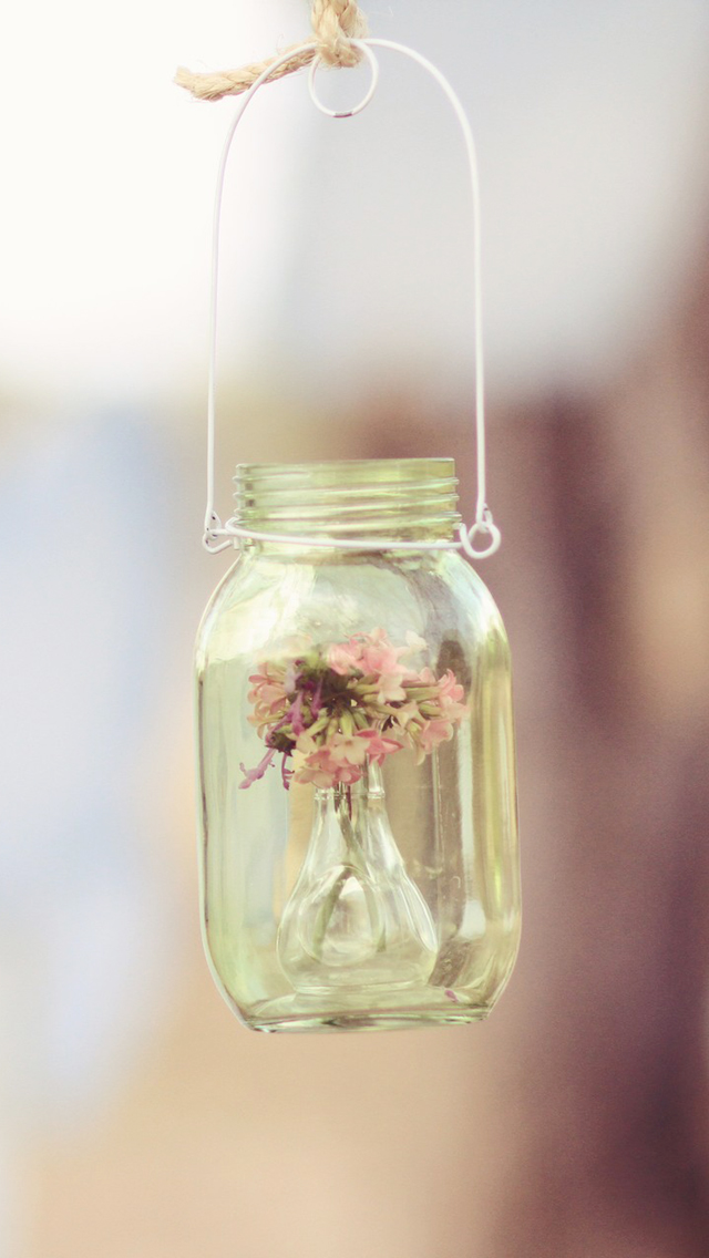 Beautiful Hanging Jar