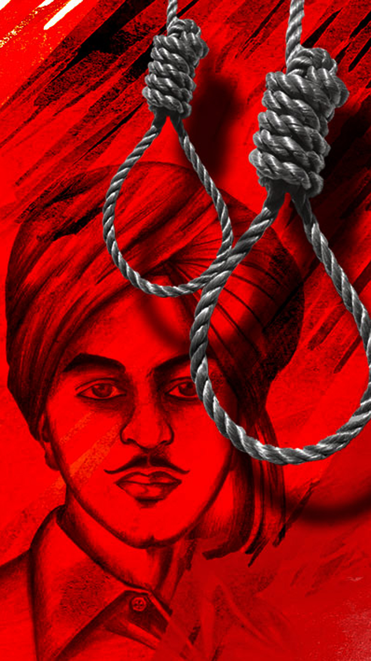 Bhagat Singh iPhone Wallpaper