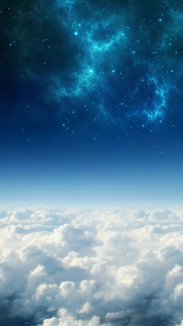 Galaxy Above White Clouds